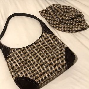 Coach hobo purse and hat set